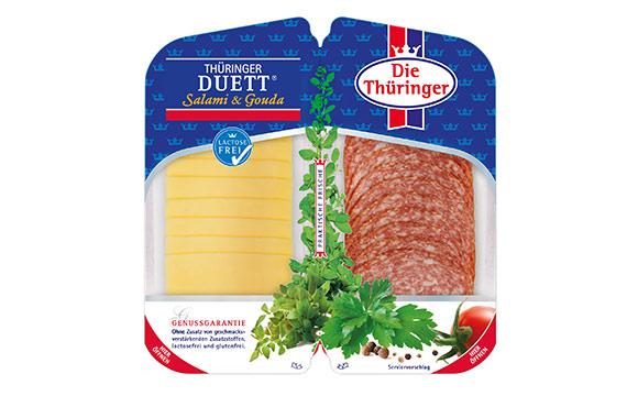 Thüringer Duett Salami und Gouda / Die Thüringer Fleisch- und Wurstspez. Rainer Wagner