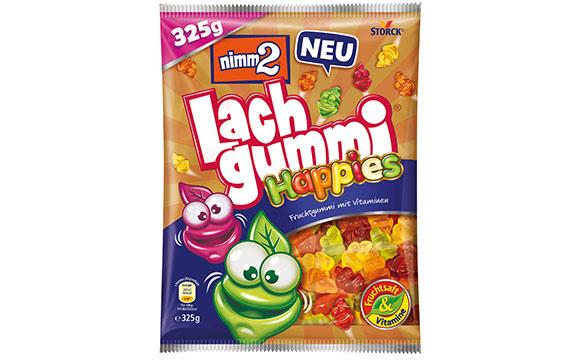 Zuckerwaren - Gold: Nimm2 Lachgummi Happies / Storck Deutschland