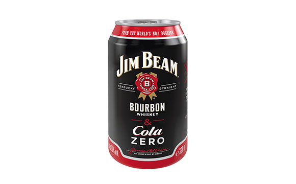 Spirituosen-Mix-Getränke / Ready-to-drink - Gold: Jim Beam & Cola Zero / Beam Suntory Deutschland