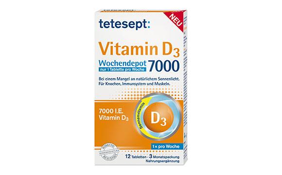 Tetesept Vitamin D3 Wochendepot 7000 / Merz Consumer Care