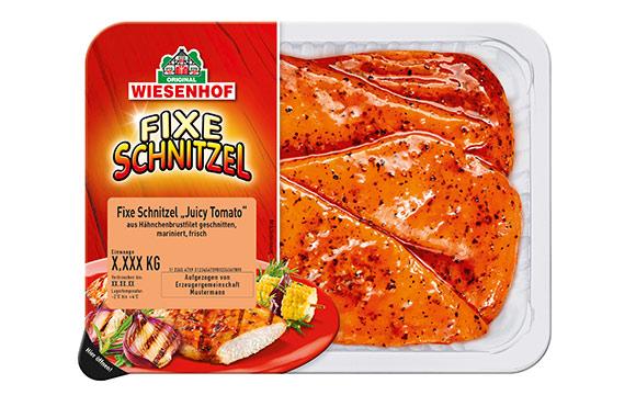 """Fleisch, Wurst, Geflügel - Silber: Wiesenhof Fixe Schnitzel Hähnchen-Minutenschnitzel """"Juicy Tomato"""" / Wiesenhof Geflügel-Kontor"""