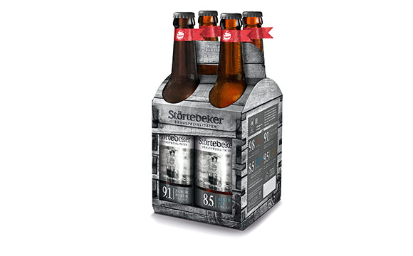 Bier - Silber: Eisbockbiere im 4er-Träger / Störtebeker Braumanufaktur