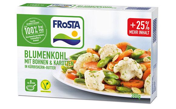 Blumenkohl mit Bohnen & Karotten in Kürbiskern-Butter / Frosta Tiefkühlkost