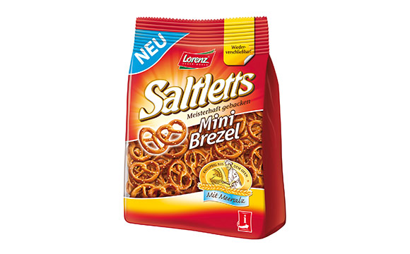 Knabberartikel, salzige Snacks - Silber: Saltletts Mini Brezel / The Lorenz Bahlsen Snack World