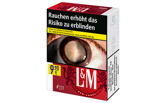Tabakwaren, Zigaretten - Silber: L&M Zigaretten Red Label Giga Box / Philip Morris