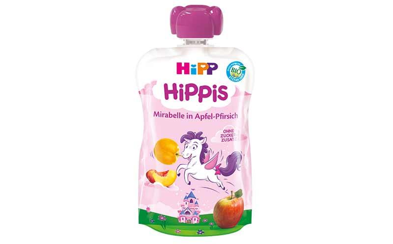 Hipp Hippis Mirabelle in Apfel-Pfirsisch / Hipp