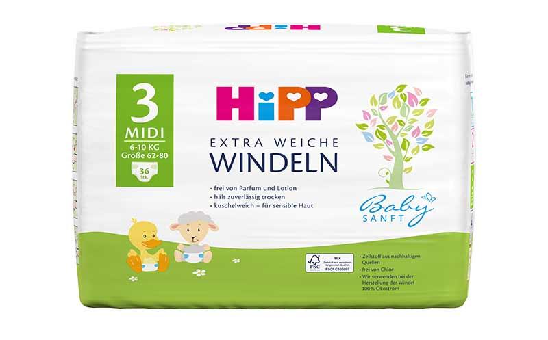 Hipp Babysanft Extra weiche Windeln / Hipp