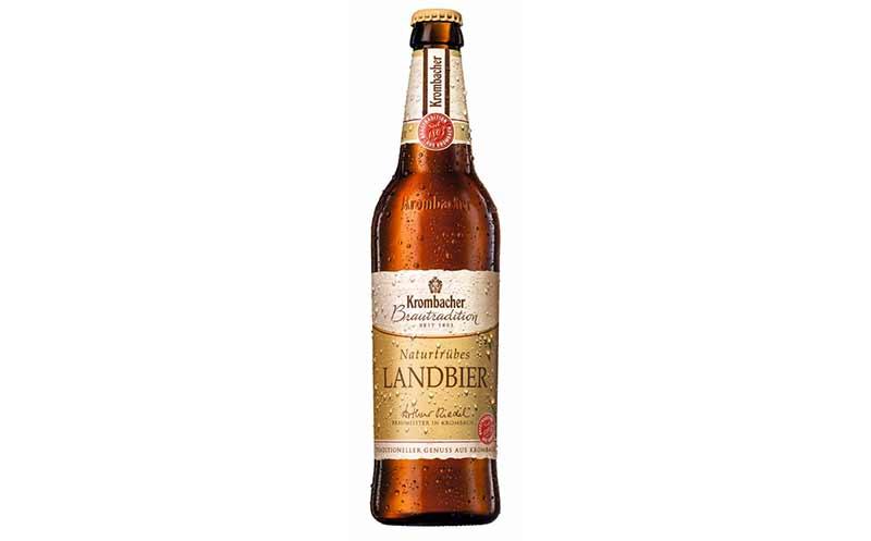 Bier - Silber: Krombacher Brautradition naturtrübes Landbier / Krombacher Brauerei Bernhard Schadeberg
