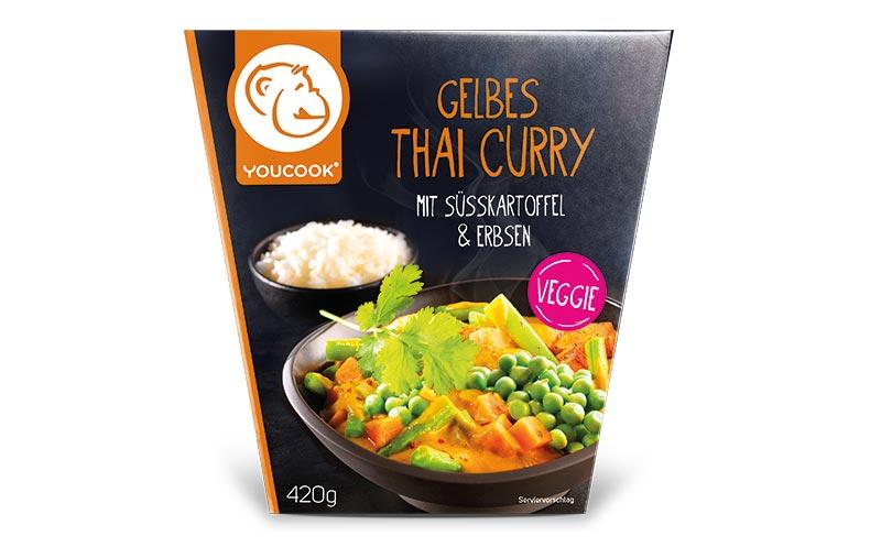 Youcook Gelbes Thai Curry mit Süßkartoffel und Erbsen / Youcook