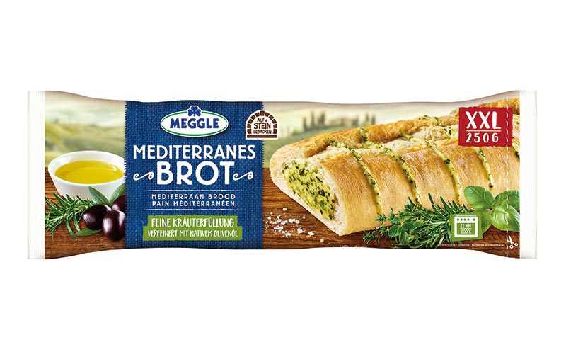 Chilled Food - Gold: Meggle Mediterranes Brot / Molkerei Meggle Wasserburg