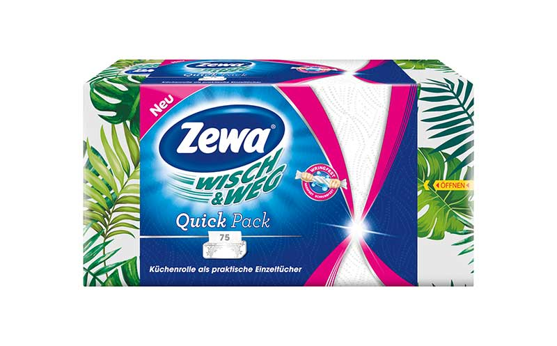 Hygienepapiere - Bronze: Zewa Wisch & Weg Quick Pack / Essity Germany