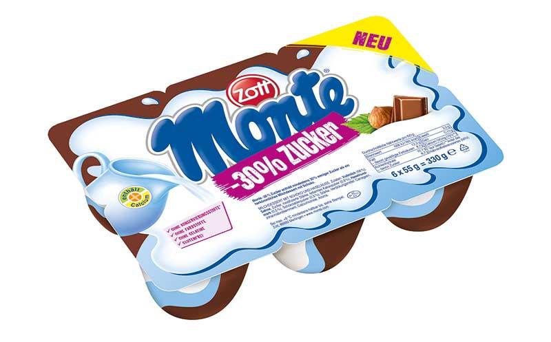 Joghurt und Desserts - Bronze: Zott Monte -30 % Zucker / Zott