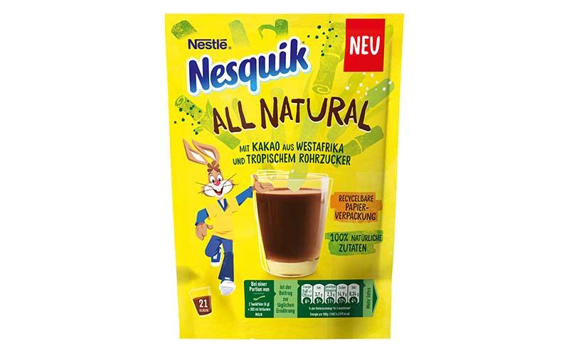 Kaffee, Tee, Kakao - Silber: Nesquik All Natural / Nestlé Kaffee und Schokoladen