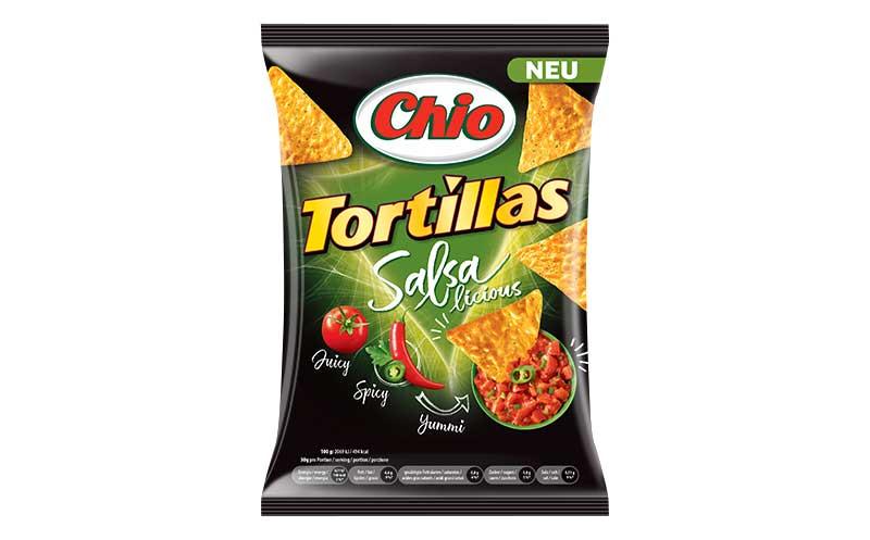 Chio Tortillas Salsalicious / Intersnack Knabber-Gebäck