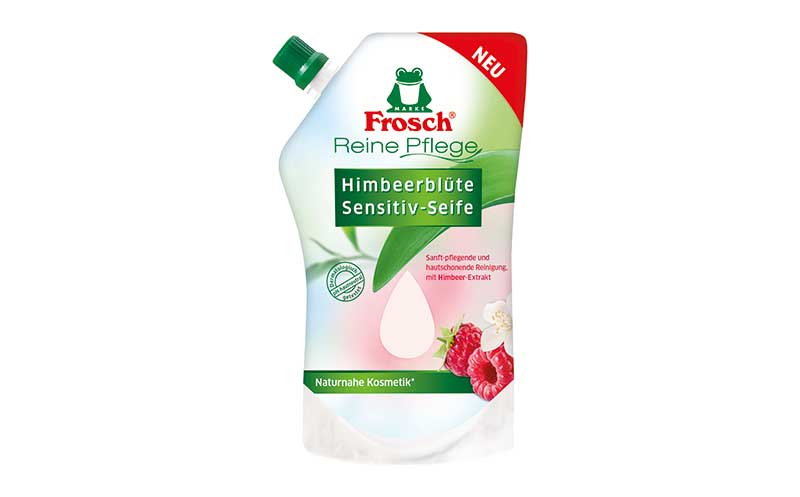 Körperpflege - Silber: Frosch Reine Pflege Himbeerblüte Sensitiv-Seife / Werner & Mertz