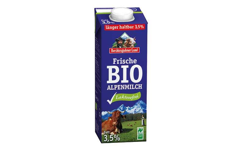 Naturland Fair Frische Bio-Alpenmilch laktosefrei 3,5 % Fett / Milchwerke Berchtesgadener Land Chiemgau