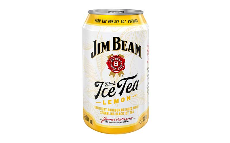 Spirituosen-Mix-Getränke / Ready-to-drink - Gold: Jim Beam Black Ice Tea / Beam Suntory Deutschland
