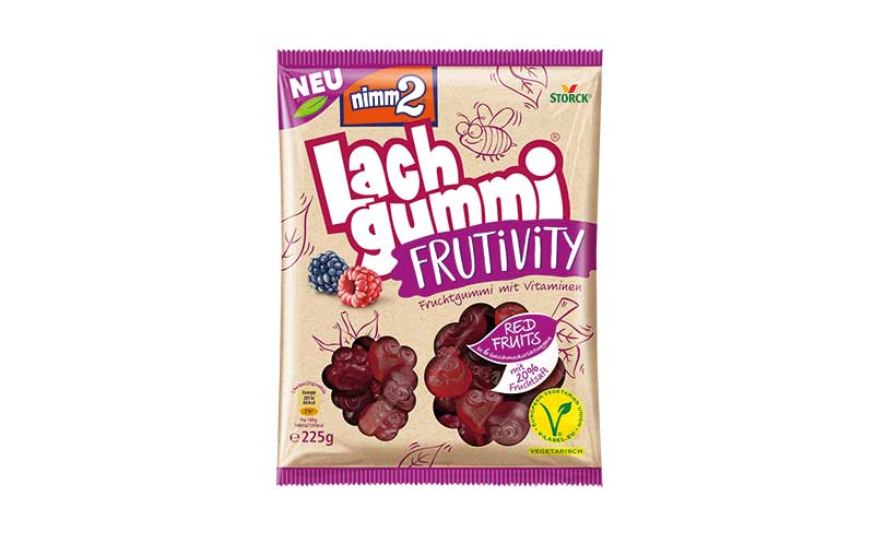 Zuckerwaren - Silber: Nimm2 Lachgummi Frutivity / August Storck