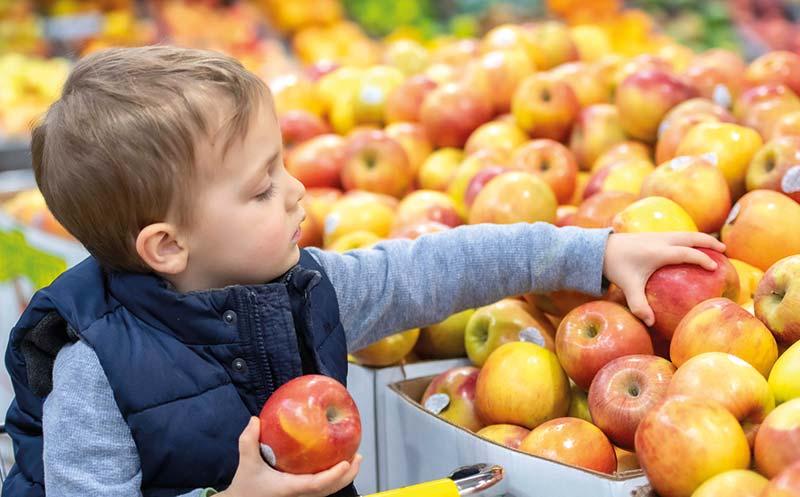 Obst für Kinderhände