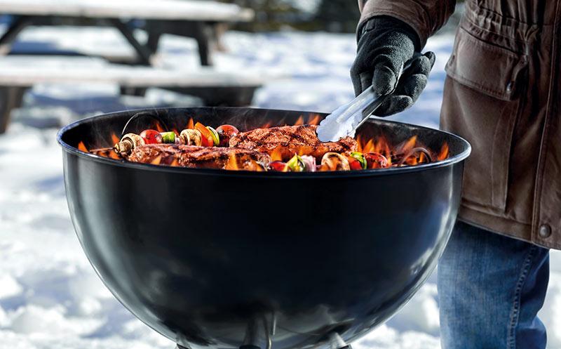 Wintergrillen: Der Grill bleibt an