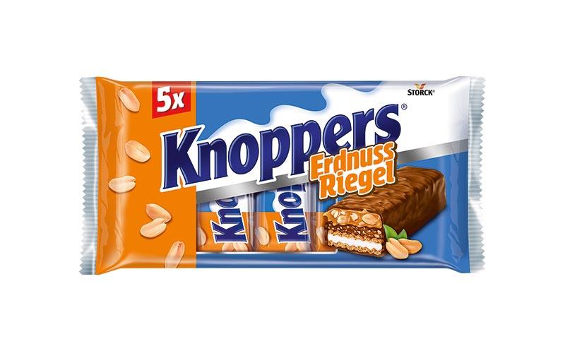Schokoladenwaren - Gold: Knoppers ErdnussRiegel/Storck