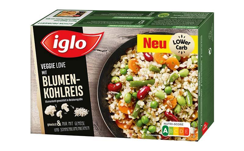 Fertiggerichte trocken und tiefgekühlt - Silber: Iglo Veggie Love/Iglo