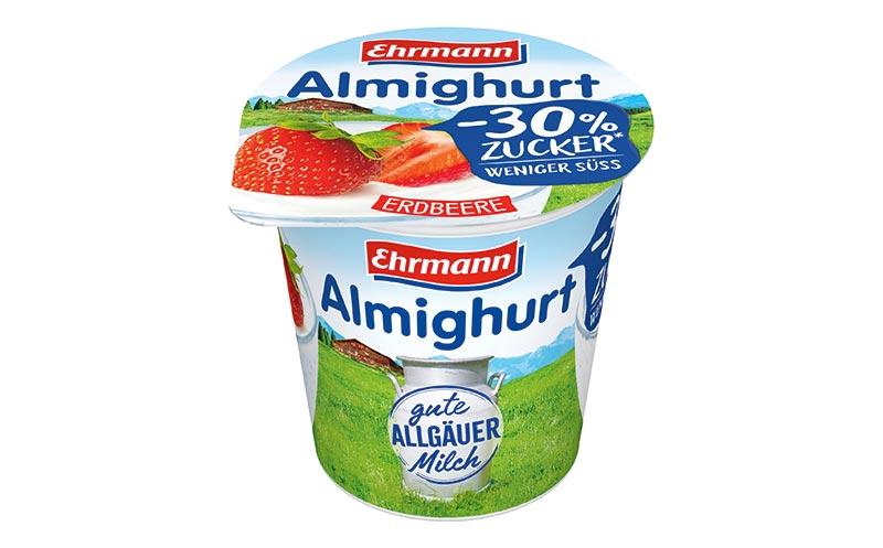 Joghurt und Desserts - Silber: Ehrmann Almighurt weniger Zucker/ Ehrmann