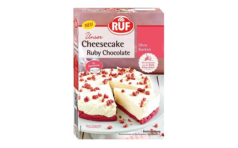 Kuchen und Backmischungen - Bronze: Ruf Cheesecake Ruby Chocolate/Ruf Lebensmittelwerk