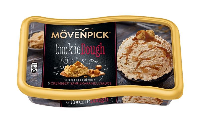 Eiscreme - Gold: Mövenpick Cookie Dough/Froneri Schöller