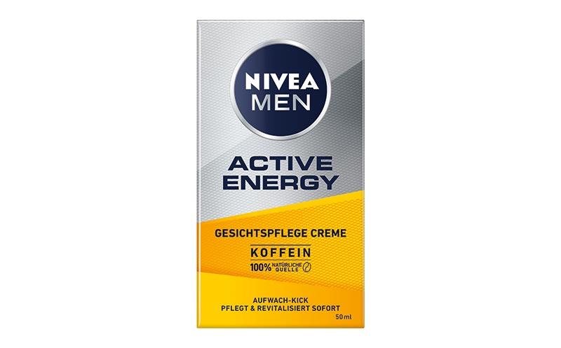 Männerpflege und -kosmetik - Gold: Nivea Men Active Energy Gesichtspflege Creme/Beiersdorf