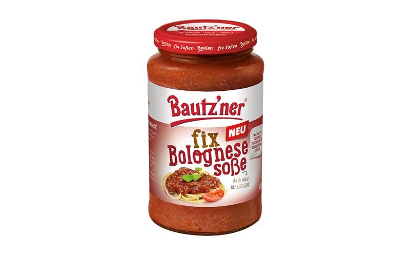 Bautz'ner fix Soße bolognese/Develey Senf & Feinkost