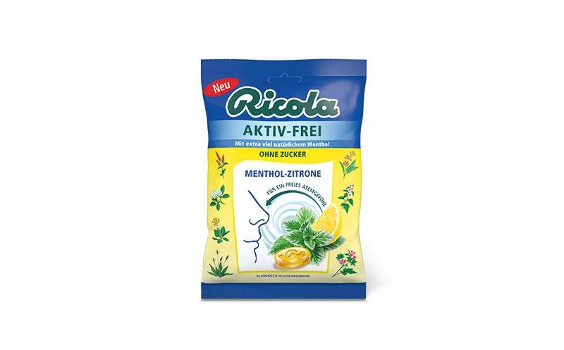 Ricola Aktiv-Frei Menthol Zitrone/CFP Brands