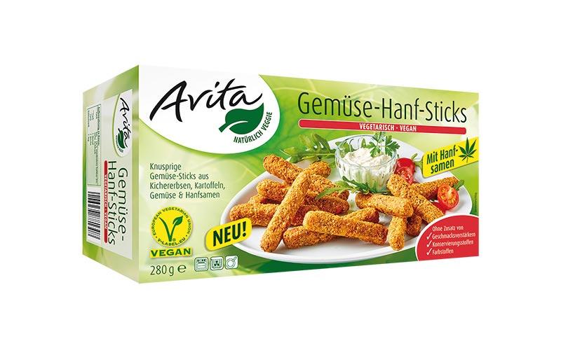 Vegetarische und vegane Alternativen - Bronze: Avita Gemüse-Hanf-Sticks/Schne-frost Ernst Schnetkamp