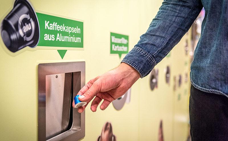 Aluminium-Kaffeekapseln werden recycelt