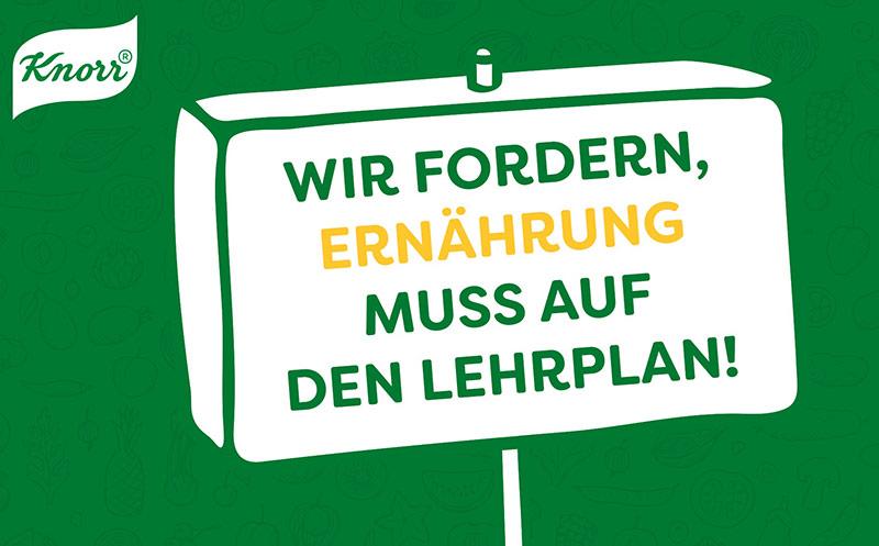 """Petition für Schulfach """"Ernährung"""""""