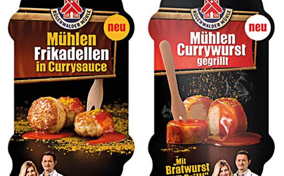 Mühlen Currywurst & Frikadellen in Currysauce / Rügenwalder Mühle