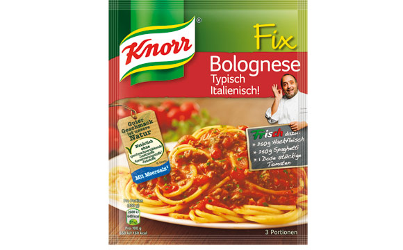 Knorr Fix Bolognese Typisch Italienisch / Unilever Deutschland