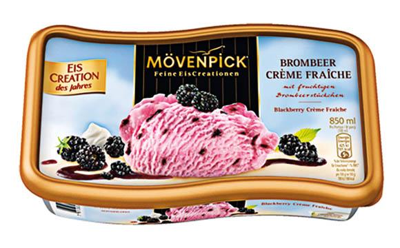 Mövenpick Eis-Creation des Jahres Brombeer Crème Fraîche / Nestlé Schöller