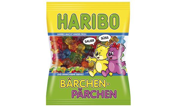 Zuckerwaren - Gold: Haribo Bärchen-Pärchen / Haribo