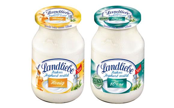 Molkereiprodukte Weiße Linie - Gold: Landliebe Rahmjoghurt / Friesland Campina Germany