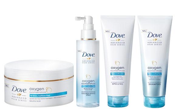 Dove Advanced Hair Series Oxygen Feuchtigkeitspflege / Unilever