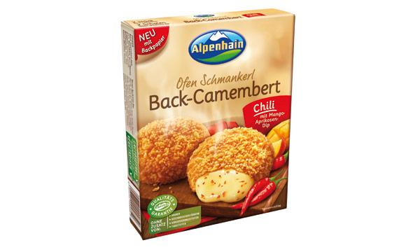 Molkereiprodukte Gelbe Linie Bronze: Ofen Schmankerl Back-Camembert Chili / Alpenhain Käsespezialitäten