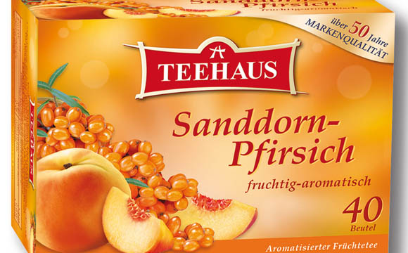 Kaffee / Tee / Kakao - Gold: Teehaus Sanddorn-Pfirsich / Teekanne