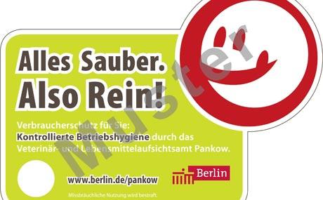 Berlin:Hygiene-Smileys für LEH?