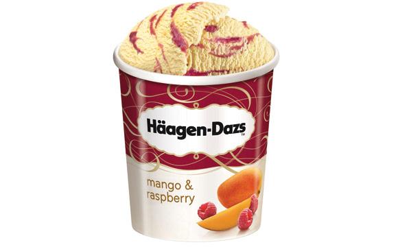 Eiscreme - Bronze: Häagen-Dazs Mango & Raspberry / General Mills