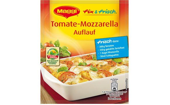 Gewürze - Silber: Maggi Fix & Frisch Tomate-Mozzarella Auflauf / Nestlé Deutschland