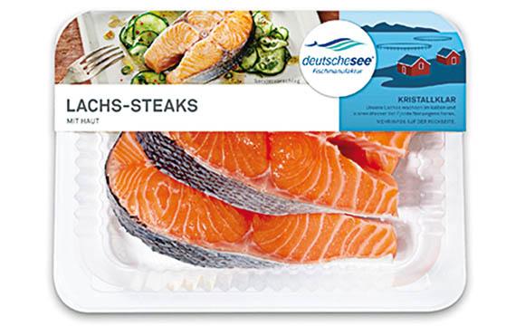Lachs-Steaks mit Haut / Deutsche See