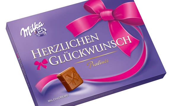 """Sag es mit Milka """"Herzlichen Glückwunsch / Mondelez Deutschland"""