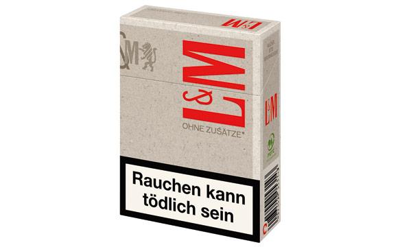 Tabakwaren / Zigaretten - Silber: L&M Red Ohne Zusätze XL / Philip Morris