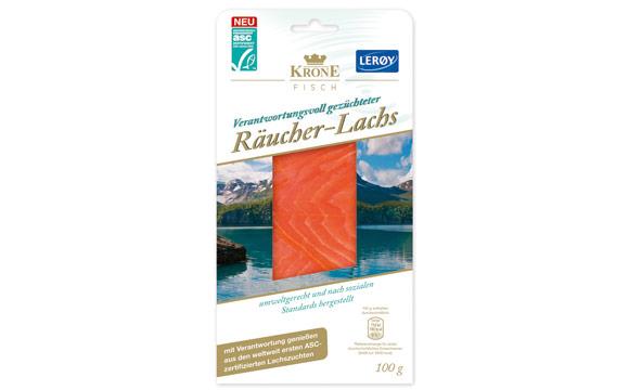 Fisch und Fischerzeugnisse - Bronze: Krone Fisch ASC-zertifizierter Räucher-Lachs / Krone
